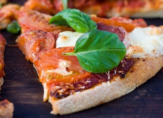 "<strong>Get the <a href=""http://glutenfreeday.com/?p=440"" target=""_hplink"">Gluten-Free Pizza recipe</a> by A Gluten-Free Day<"