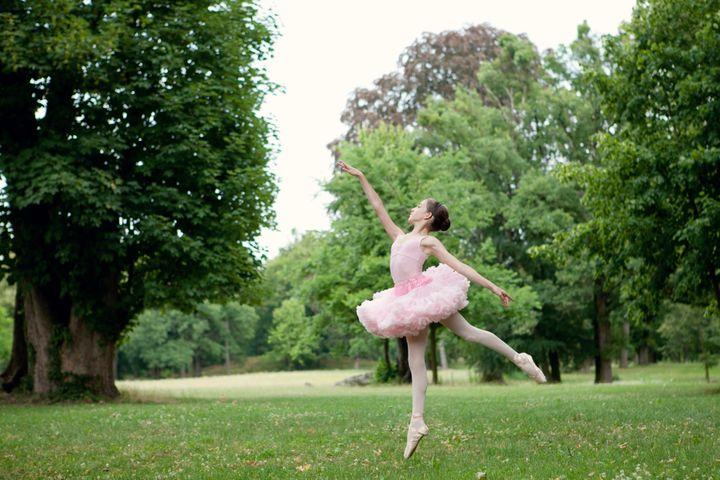 beautiful ballerina is dancing