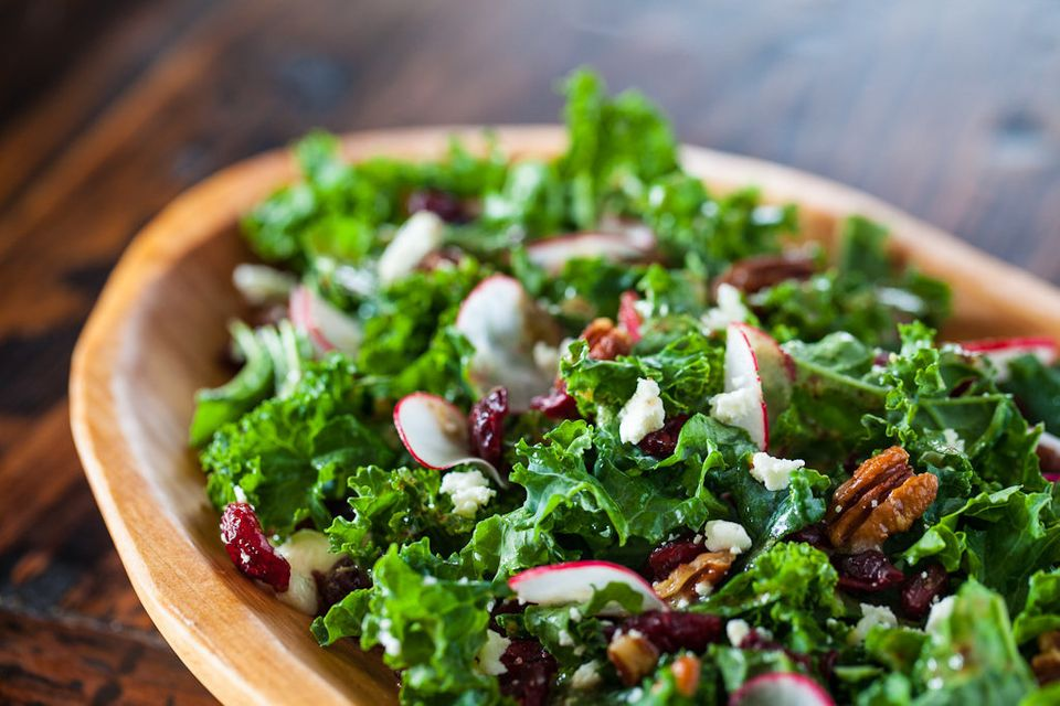 """<strong>Get the <a href=""""http://www.steamykitchen.com/24357-kale-salad-with-cherries-and-pecan-recipe.html"""" target=""""_blank"""">K"""