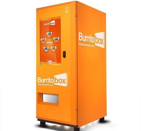 "This <a href=""http://tastetheburritobox.com/"" target=""_blank"">burrito kiosk</a> serves up freshly prepped burritos in 60 seco"