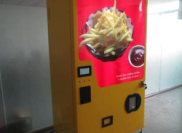 """In 95 seconds, <a href=""""http://www.prnewswire.com/news-releases/world-first-french-fries-vending-machine-invented-231860371.h"""