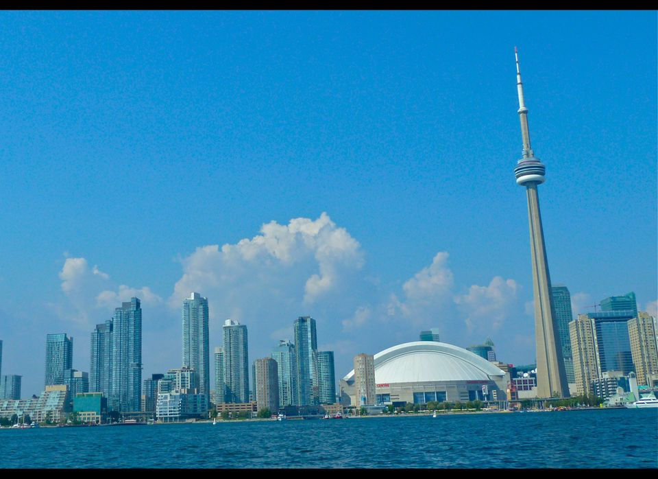 The skyline of downtown Toronto with CN Tower as a beacon. (Dwight Brown)