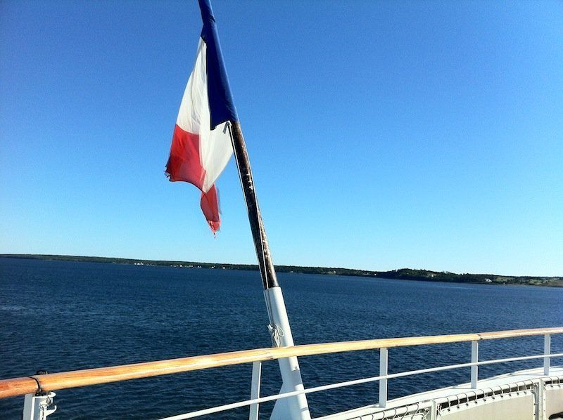 Le Boreal sails under a French flag.