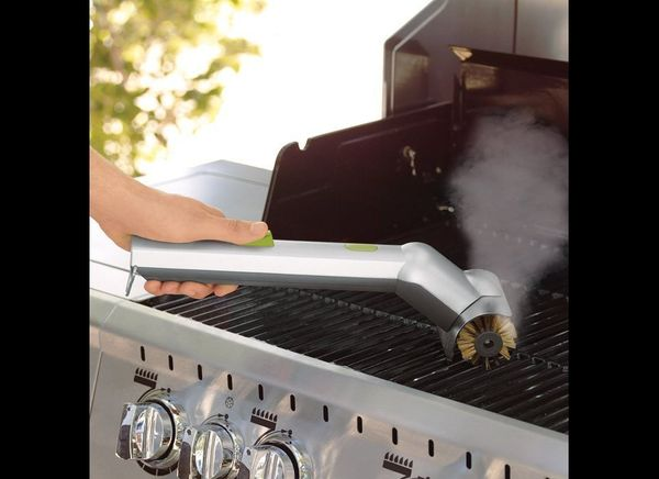 """Okay. What exactly are you grilling? Paint? Do you really need the <a href=""""http://www.brookstone.com/motorized-grill-brush-w"""