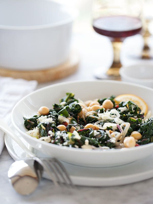 "<strong>Get the <a href=""http://www.foodiecrush.com/2013/04/garlicky-swiss-chard-and-chickpeas/"" target=""_blank"">Garlicky Swi"