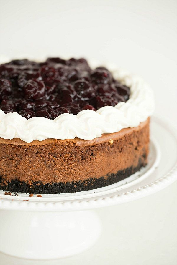 """<strong>Get the <a href=""""http://www.browneyedbaker.com/2014/01/22/black-forest-cheesecake-recipe/"""" target=""""_blank"""">Black Fore"""