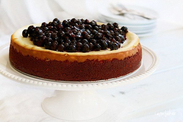 """<strong>Get the <a href=""""http://iambaker.net/new-york-cheesecake-with-red-velvet-crust/"""" target=""""_blank"""">New York Cheesecake"""