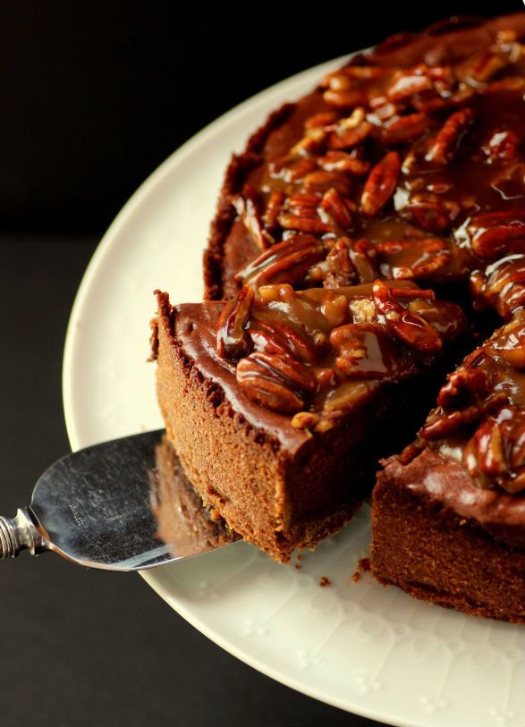 """<strong>Get the <a href=""""http://dietersdownfall.com/chocolate-cheesecake-with-praline-sauce/"""" target=""""_blank"""">Chocolate Chees"""