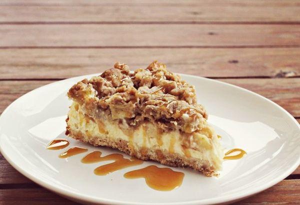 "<strong>Get the <a href=""http://www.abeautifulmess.com/2012/11/caramel-apple-cheesecake.html"" target=""_blank"">Caramel Apple C"
