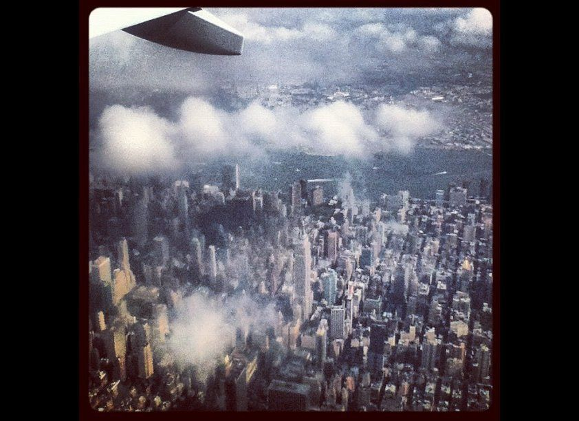 On approach to LaGuardia, NYC