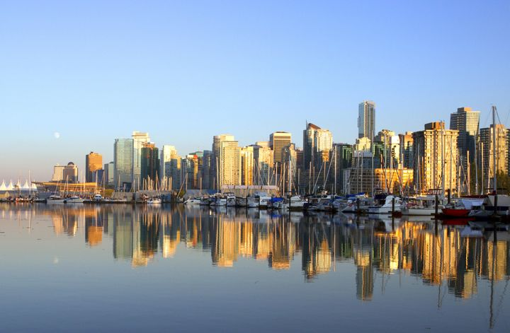 vancouver canada cityscape in...