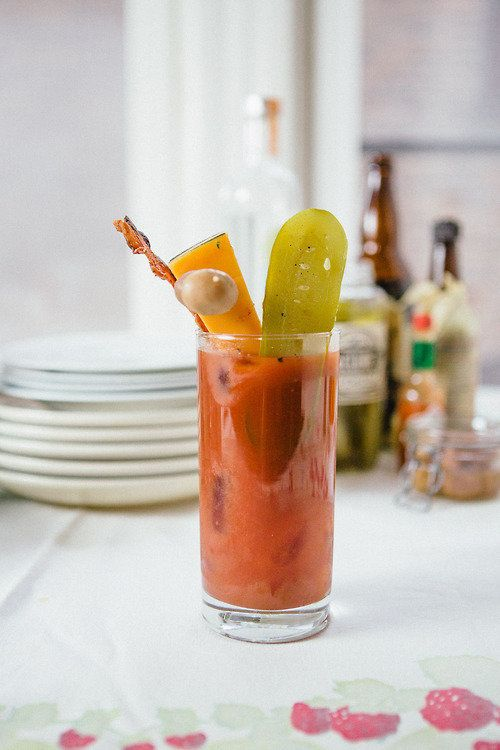 """<strong>Get the <a href=""""http://www.dinnerwasdelicious.com/search/bloody+mary"""" target=""""_blank"""">Bloody Mary a la Lucy recipe</"""