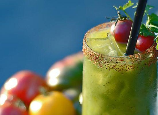 """<strong>Get the <a href=""""http://locavorelifestyle.blogspot.com/2008/08/heirloom-tomato-bloody-mary.html"""">Heirloom Tomato Bloo"""