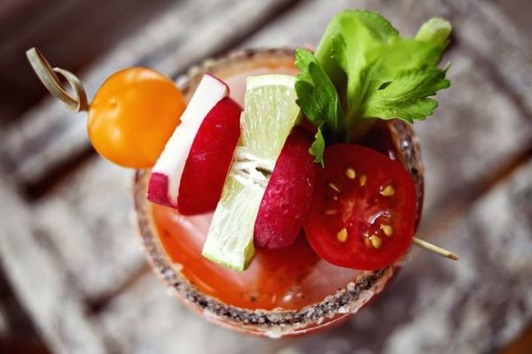 """<strong>Get the <a href=""""http://www.abeautifulmess.com/2013/04/carrot-bloody-maria-.html"""" target=""""_blank"""">Carrot Bloody Mary"""