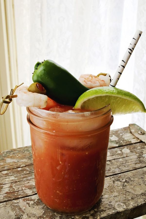 """<strong>Get the <a href=""""http://www.abeautifulmess.com/2013/02/jalapeno-bloody-mary.html"""" target=""""_blank"""">Jalapeno Bloody Mar"""