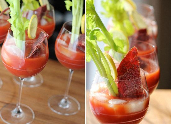 """<strong>Get the <a href=""""http://bakerbettie.com/2011/12/31/cocktails-for-new-years-eve-and-the-morning-after/"""">Beef Jerky Blo"""