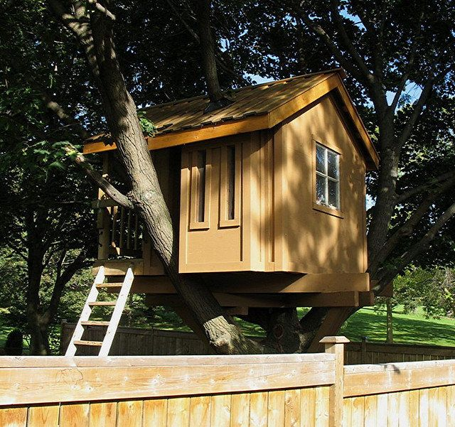"""Is this a tree house or a real house? It looks like the perfect space to read comic books.   (Flickr photo by <a href=""""http:/"""