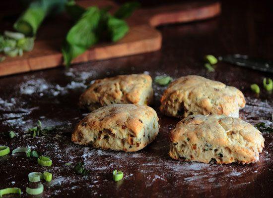 "<strong>Get the <a href=""http://www.pastryaffair.com/blog/caramelized-leek-basil-black-pepper-biscuits.html"">Caramelized Leek"