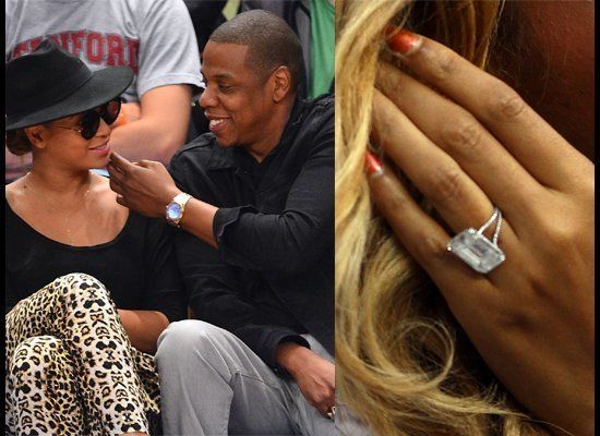 In 2007, Jay-Z gave Beyonce this 18-carat diamond set in platinum designed by Lorraine Schwartz which reportedly cost $5 mill