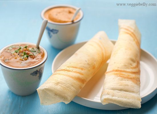 """<strong>Get the <a href=""""http://www.veggiebelly.com/2011/03/perfect-dosa-recipe.html"""">Dosa</a> recipe from Veggie Belly</stro"""