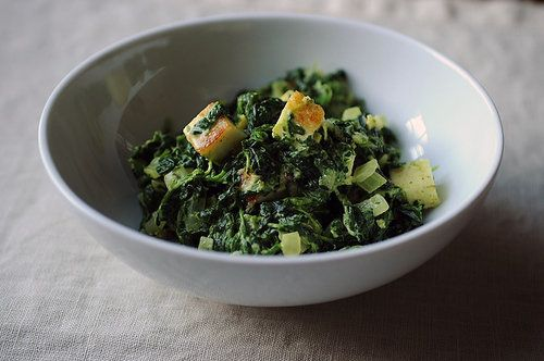 """<strong>Get the <a href=""""http://food52.com/recipes/8650-saag-paneer"""" target=""""_blank"""">Saag Paneer</a> recipe by Merrill Stubbs"""