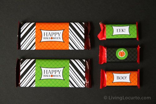 Be the most talked about house on the block with these colorful candy labels. And let us know where you live if you're handin