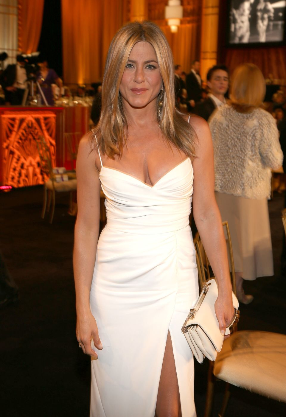 "The <a href=""https://www.huffpost.com/entry/jennifer-aniston-engaged-justin-theroux_n_1771083"">recently engaged star</a> is <"