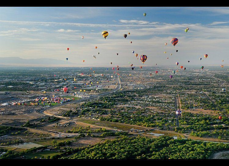 Hot air balloons are ever-present in the skies over Albuquerque, but it's the annual International Balloon Fiesta that provid