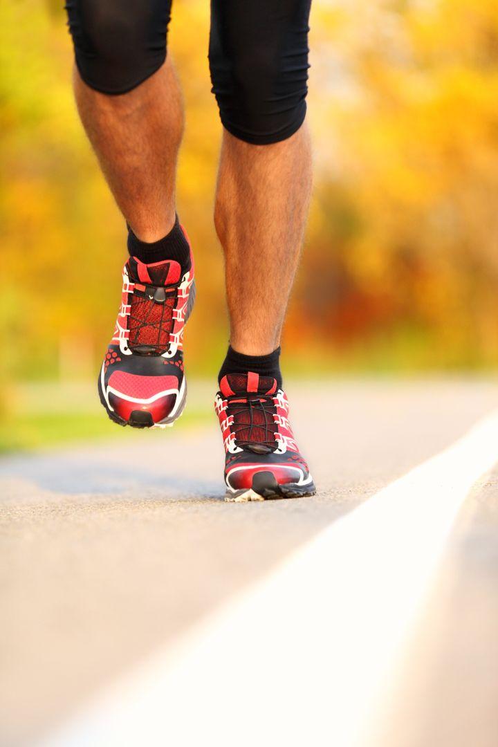 running shoes on runner...