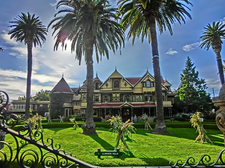 Winchester Mystery House a Queen Anne Style Victorian mansion.  Built- 1884. Located at 525 South Winchester Blvd.  in San Jo