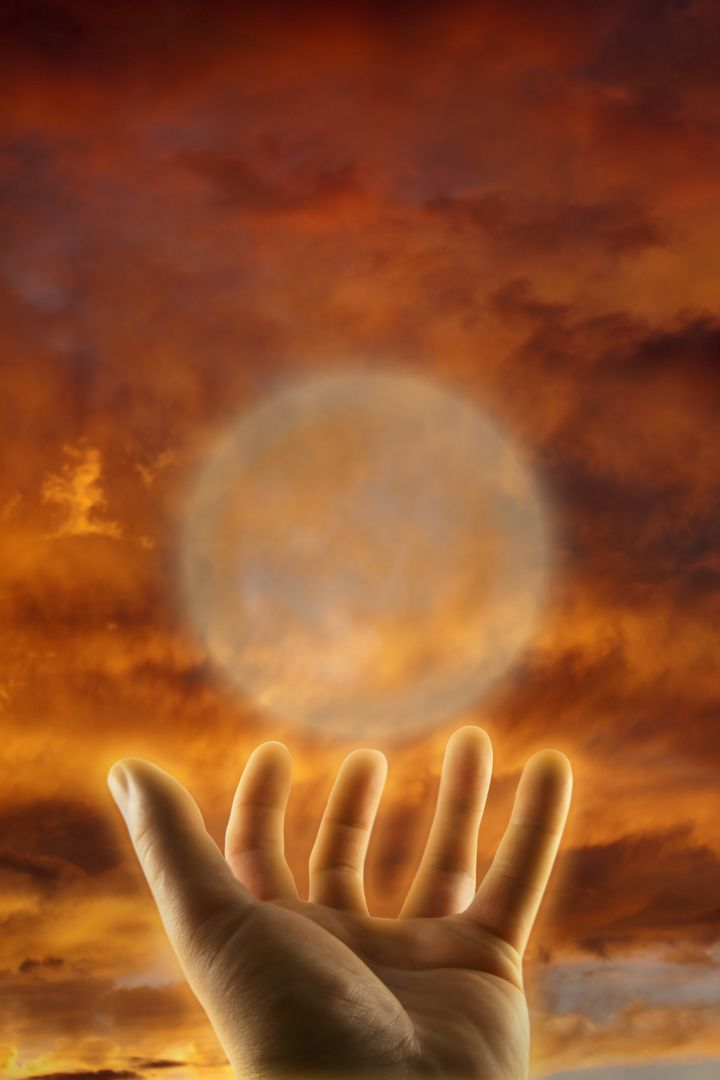 healing hand esoteric concept