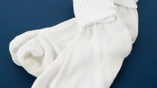 White Socks with blue background