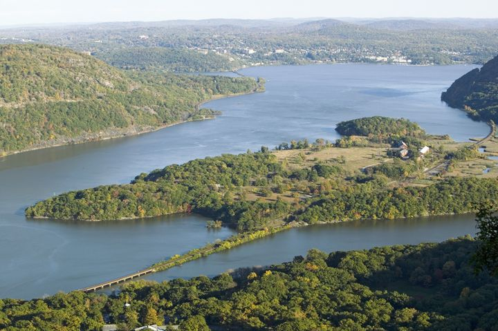 view of hudson valley and river ...