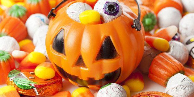 spooky orange halloween candy...