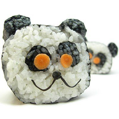 "<strong>See how to make <a href=""http://thedecoratedcookie.com/2010/09/sushi-art-my-second-project-food-blog-challenge/"">Pand"