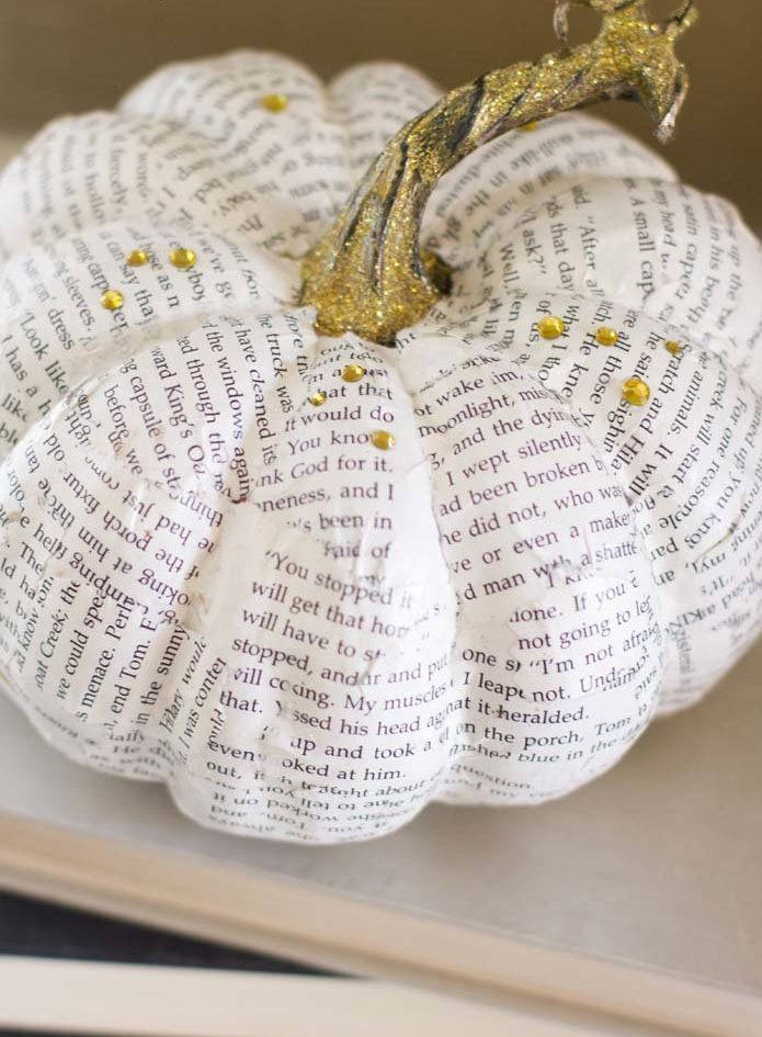 Create pumpkin decor that you can keep out for Halloween and throughout the fall season.