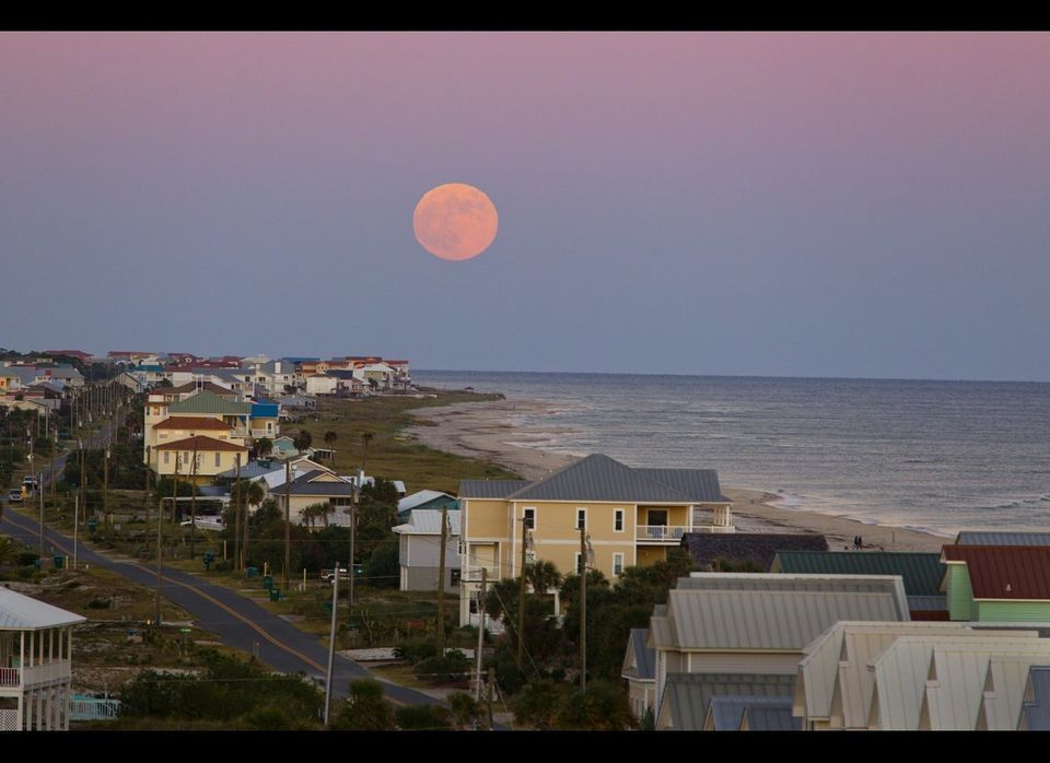 """Monthly full moon tours of the Cape St. George Lighthouse feature coastal views like this. [Colin Hackley, <a href=""""http://w"""