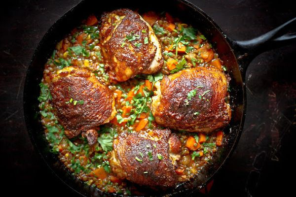 "<strong>Get the <a href=""http://www.feastingathome.com/2012/11/crispy-berbere-chicken-with-ethiopian.html"" target=""_blank"">Cr"