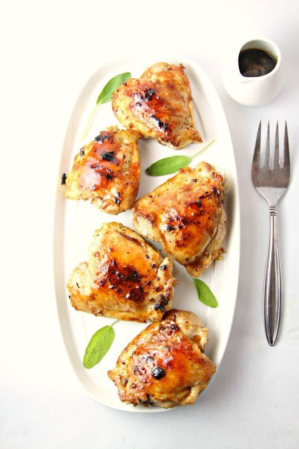 "<strong>Get the <a href=""http://www.bellalimento.com/2014/09/22/cranberry-sage-glazed-grilled-chicken/"" target=""_blank"">Cranb"