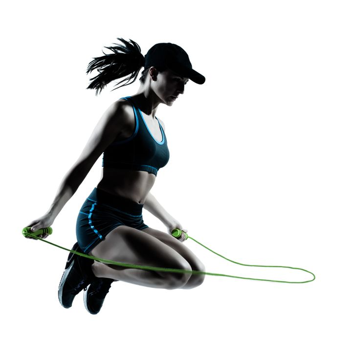 one caucasian woman runner...