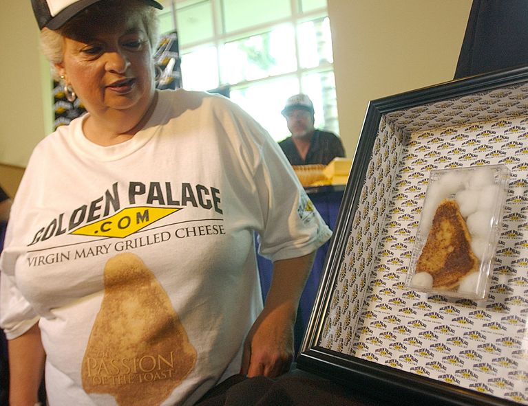 For one reason or another, Diana Duyser of south Florida held onto a grilled cheese sandwich resembling the Virgin Mary for o