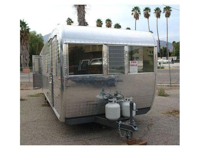 Tiny Homes: Restored Vintage Boles Aero Aluminum Trailer On