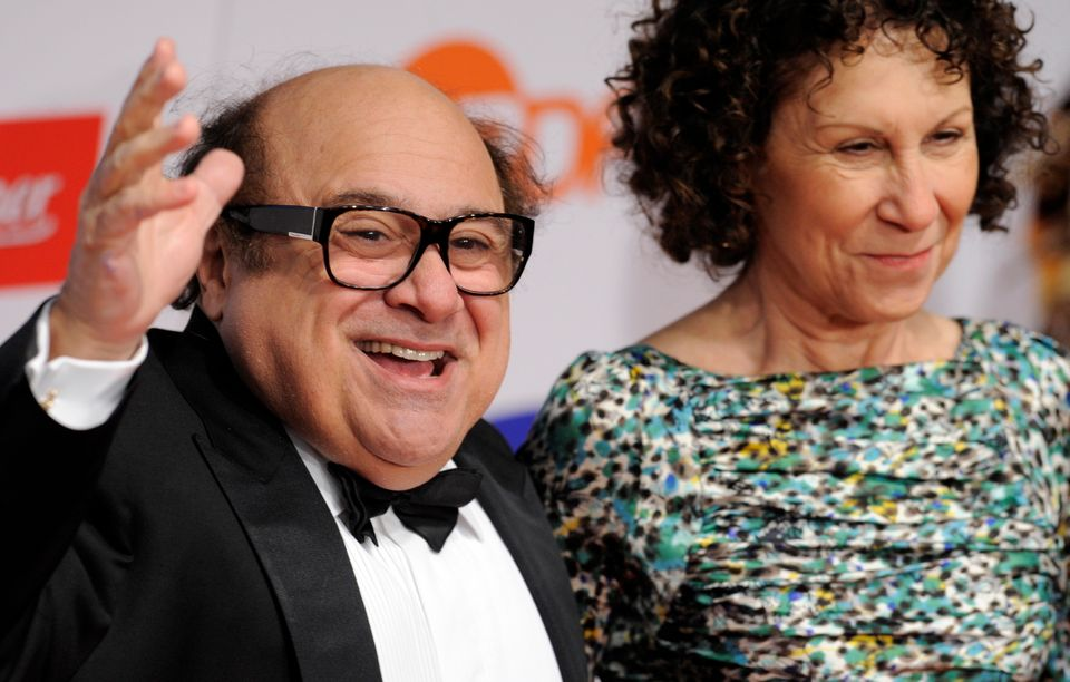 """After 30 years of marriage, Danny DeVito, 67, and Rhea Perlman, 64, <a href=""""http://www.people.com/people/article/0,,20637106"""