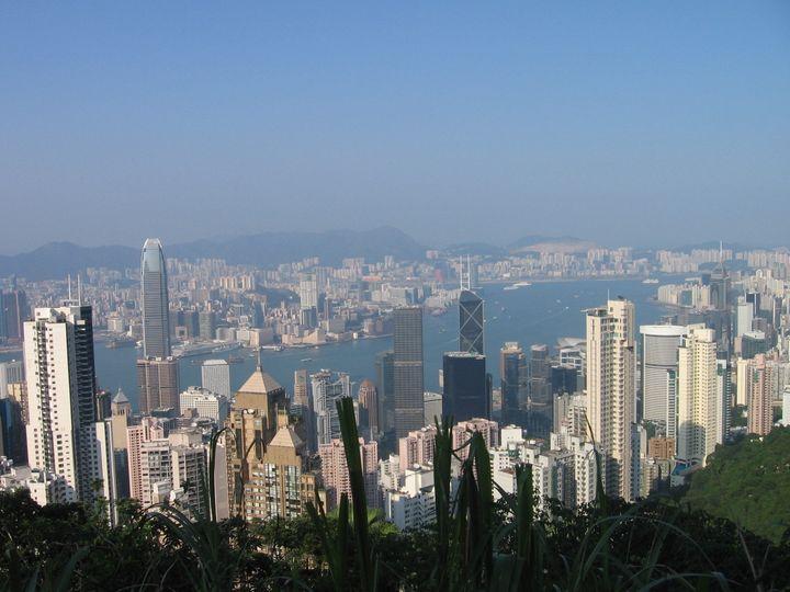 Description Hong Kong vom Victoria Peak aus gesehen. |  Source Urlaubsfoto | Date | Author Gernot Kurze  | Permission | other