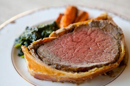 "<strong>Get the <a href=""http://www.simplyrecipes.com/recipes/beef_wellington/"" target=""_blank"">Beef Wellington recipe</a> fr"