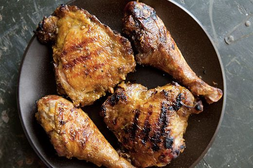 """<strong>Get the <a href=""""http://www.simplyrecipes.com/recipes/bbq_turkey_with_mustard_sauce/"""" target=""""_blank"""">BBQ Turkey With"""