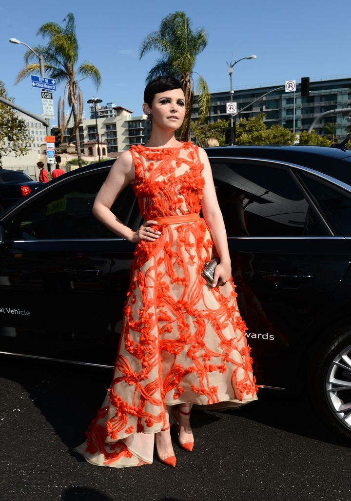 LOS ANGELES, CA - SEPTEMBER 23:  Actress Ginnifer Goodwin arrives at Audi at The 64th Primetime Emmy Awards at Nokia Theatre L.A. Live on September 23, 2012 in Los Angeles, California.  (Photo by Michael Buckner/Getty Images for Audi)