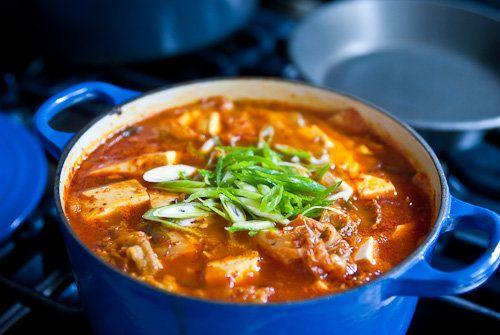 "<strong>Get the <a href=""http://norecipes.com/blog/kimchi-jigae-recipe-kimchi-soup/"">Kimchi Jigae recipe from No Recipes</a><"