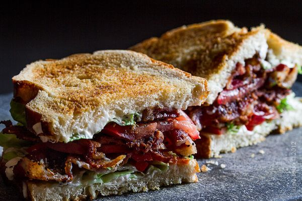 You don't need a BLT recipe. All you need to know is that there should be mayo, lots of bacon and you should eat it ASAP.  <b