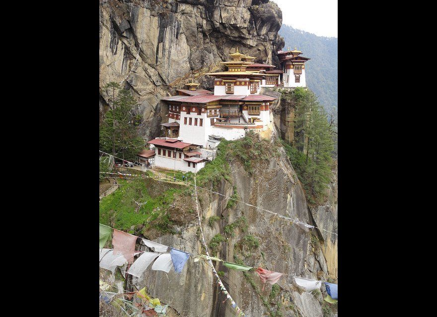 """Known colloquially as """"The Tiger's Nest,"""" this monastery dates back to the 1600s. As if the stunning location wasn't enough,"""